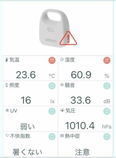 【騒音・温度、湿度管理】チンチラを飼うのに必須アイテム!オムロンの環境センサで温湿度だけでなく騒音値も把握する。