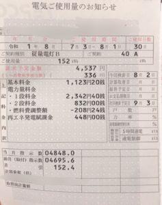 7月の電気代請求金額