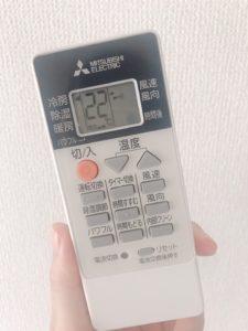 エアコン24度設定の写真